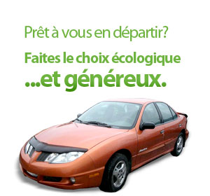 Prêt à vous départir de votre voiture? Choisissez l'option verte ... et généreuse